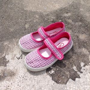Cienta toddler girl Mary Jane pink sparkly shoes